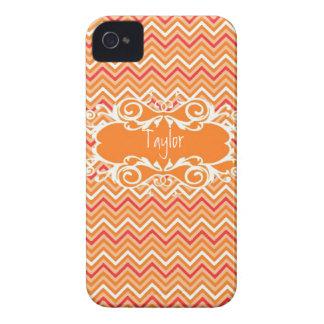 Custom Orange Chevron Iphone Case