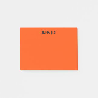 Custom Orange Post-it Notes