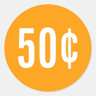 Custom Orange Price Sticker