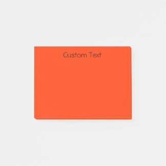 Custom Orange/Red Post-it Notes