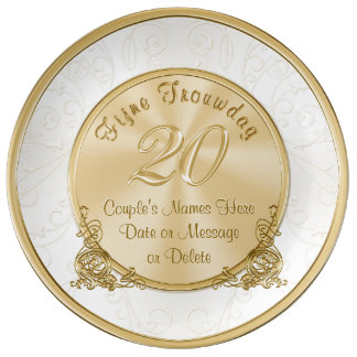 Custom Order Anniversary Plates Fijne Trouwdag