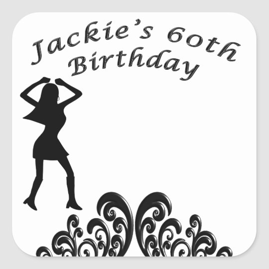 Custom Order Black and White Dance Party Stickers