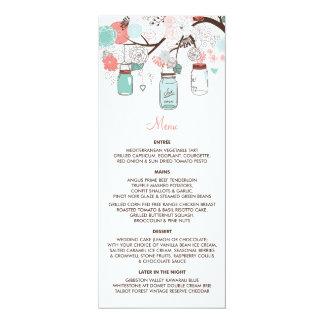 Custom Order | Mason Jars Menu Card 10 Cm X 24 Cm Invitation Card