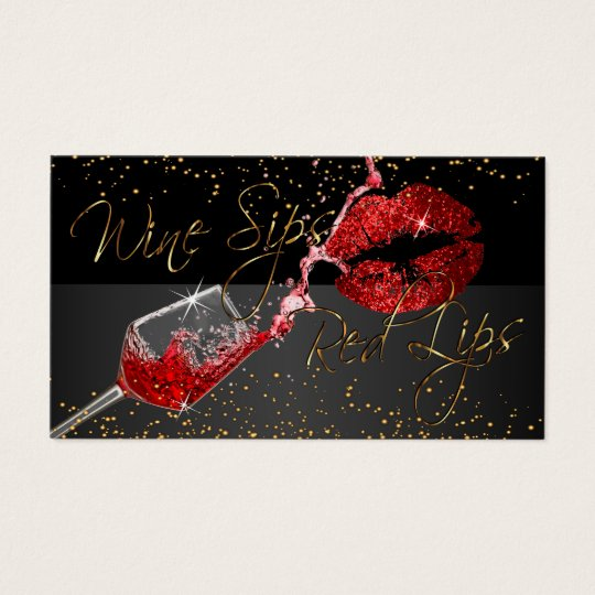 Custom Order - Wine Sips and Red Lips
