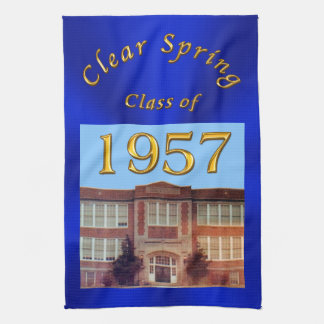Custom Order Your School Reunion Gifts Tea Towel