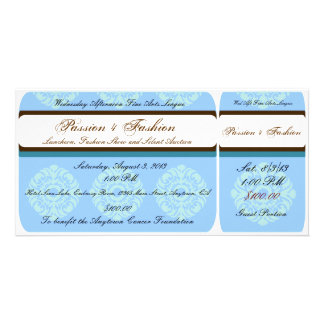 Custom Organization or Business Event Tickets Photo Cards