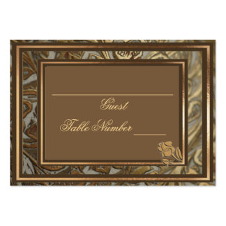 Custom Ornate Gold Wedding Table Seating Card Business Cards