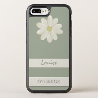 Custom OtterBox iPhone 8 Plus Daisy Flower Stripe