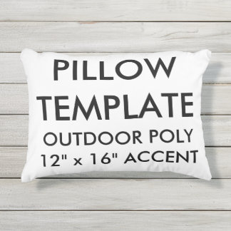 Custom Outdoor Accent Pillow Blank Template