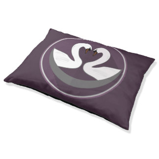 Custom Outdoor Dog Bed - Large LOVE SWANS