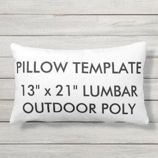 Custom Outdoor Poly Lumbar Pillow Blank Template