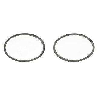 Custom Oval Gunmetal Plated Cufflinks Gunmetal Finish Cufflinks
