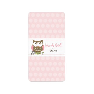 Custom Owl baby shower candy wrapper Address Label