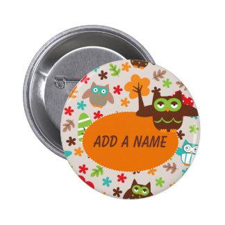 Custom Owl Button