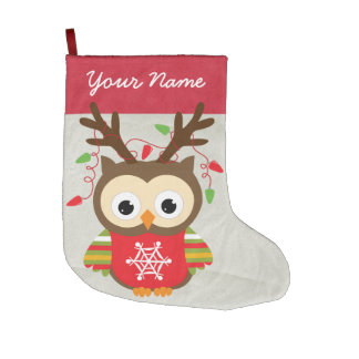 Custom Owl Christmas Stocking