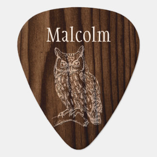 Custom Owl Guitar Pick
