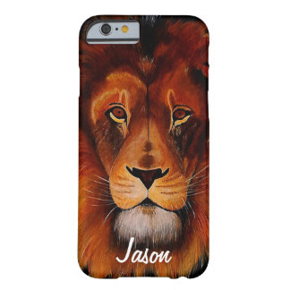 Custom painted lion face barely there iPhone 6 case