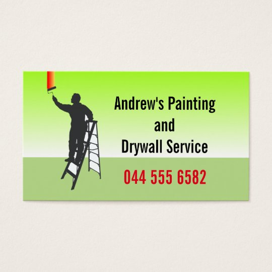 Custom Painting Service Business Card