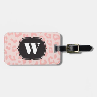 Custom Pale Pink Leopard Print Luggage Tag