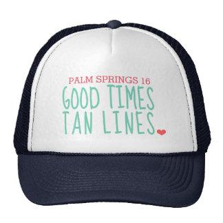 Custom Palm Springs Good Times Tan Lines Hat
