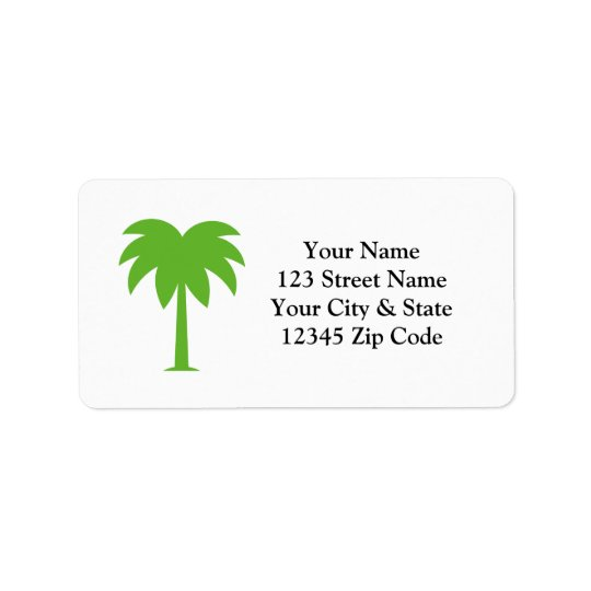 Custom palm tree address labels