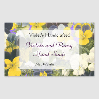 Custom Pansy and Violets Soap or Craft Stickers