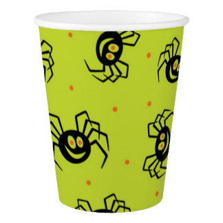Custom Paper Cup, 9 oz/Halloween-Spider Paper Cup