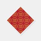 Custom Paper Napkins with Company Logo Low Minimum Disposable Serviette