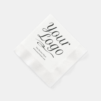 Custom Paper Napkins with Logo & Promotional Text