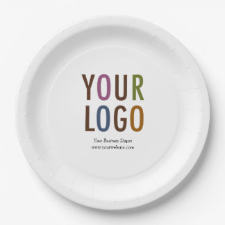 "Custom Paper Plate 9"" with Logo & Promotional Text 9 Inch Paper Plate"