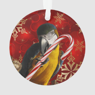 Custom Parrot Photo Ornament Front and Back