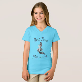 Custom Part Time Mermaid Bright Blue T Shirt