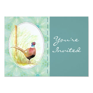 Custom  Party Invite Custom Ring-Necked Pheasant
