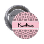 Custom Pastel Pink Stylish Chic Pattern 6 Cm Round Badge