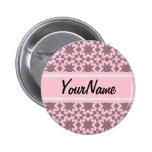 Custom Pastel Pink Stylish Chic Pattern 6 Cm Round Badge