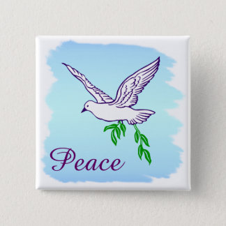 Custom Peace Dove with Olive Branch Button