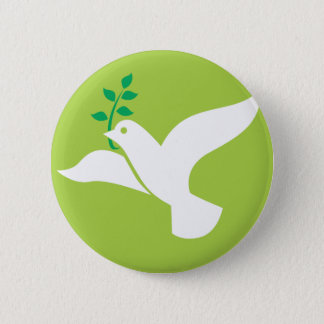 Custom Peace Dove With Olive Logo 6 Cm Round Badge