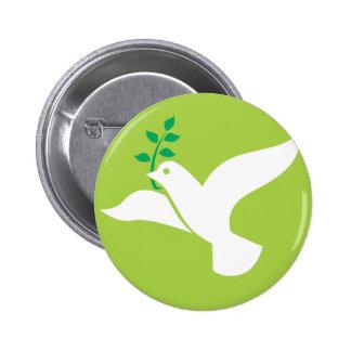 Custom Peace Dove With Olive Logo 6 Cm Round Badge