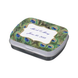 Custom Peacock Candy Tin