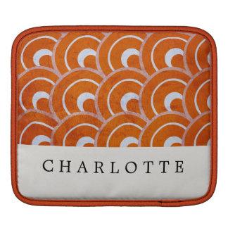 Custom Peacock Orange iPad Sleeve