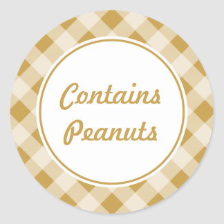 Custom Peanut Butter Gingham Stickers