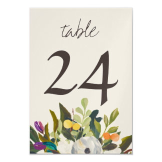 Custom Pearl Shimmer Small Table Numbers 9 Cm X 13 Cm Invitation Card