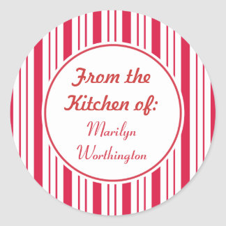Custom Peppermint Kitchen Stickers