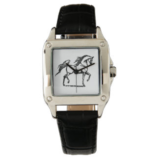 Custom Perfect Square Black Leather Watch