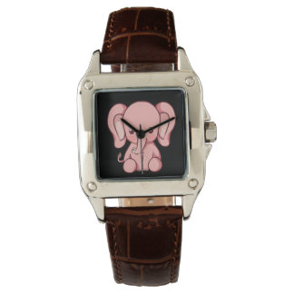 Custom Perfect Women's Square Brown Leather Watch