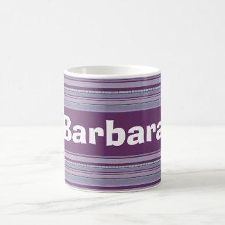 Custom Periwinkle and Lavender Striped Coffee Mugs