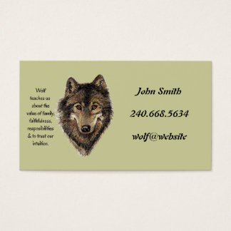 Custom Personal Wolf Totem Business Card