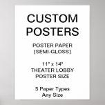 "Custom Personalised 11""x14"" Semi-Gloss Poster"