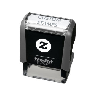 "Custom Personalised 1.4"" x 0.4"" Self-inking Stamp"