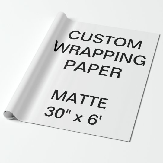 """Custom Personalised 30"""" x 6' Matte Wrapping Paper"""
